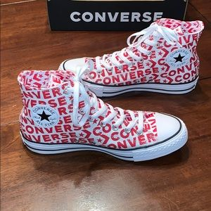 Converse Chuck Taylor All Stars Red/White Hi Tops